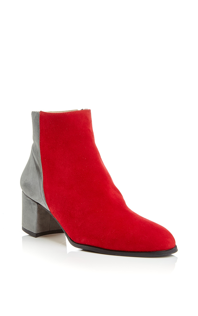 Perfect WOMEN RED SUEDE STYLE PLATFORM WEDGE HEEL LADIES ANKLE BOOTS SIZE 3-8 | EBay
