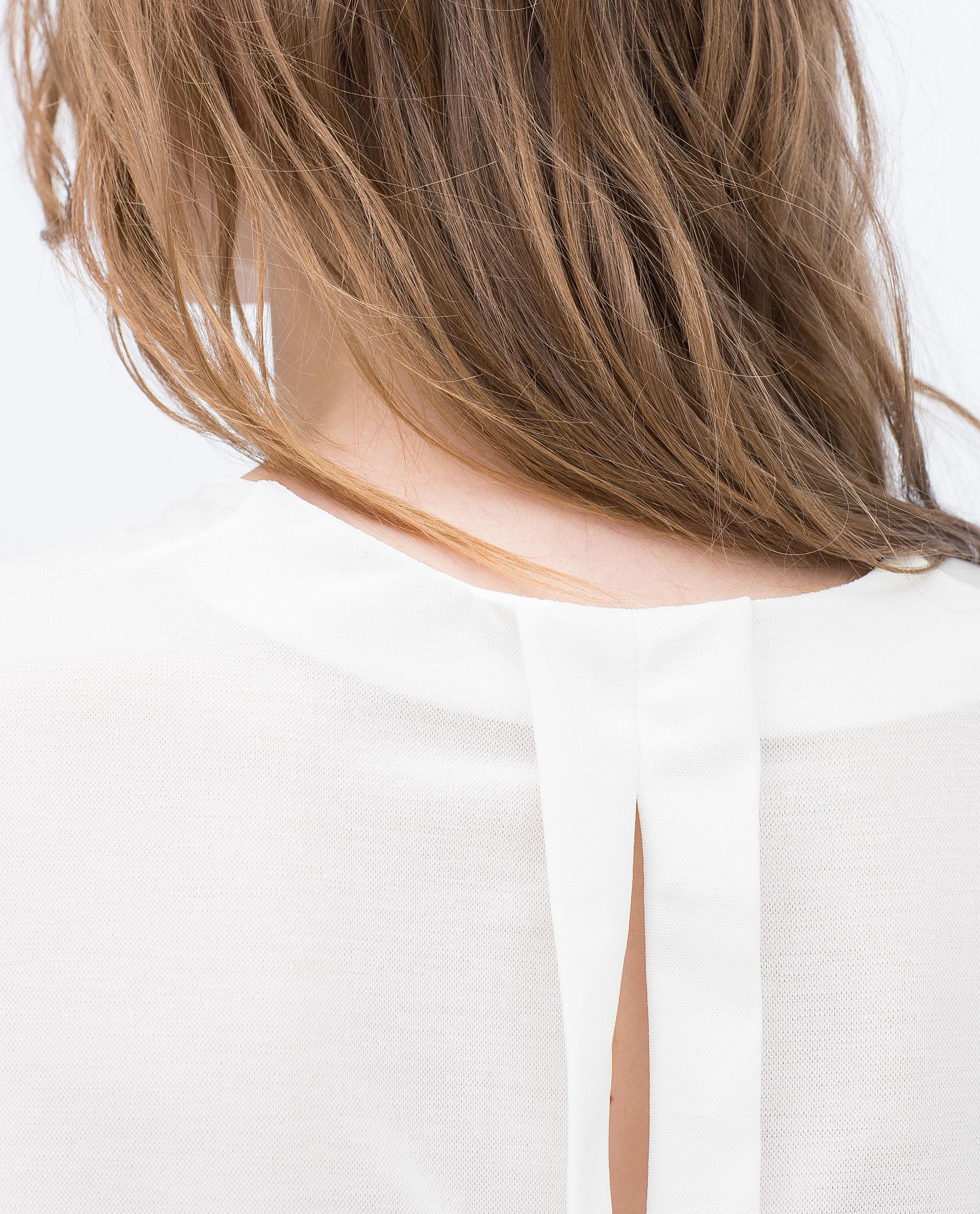 Zara Shirt Style Blouse 74