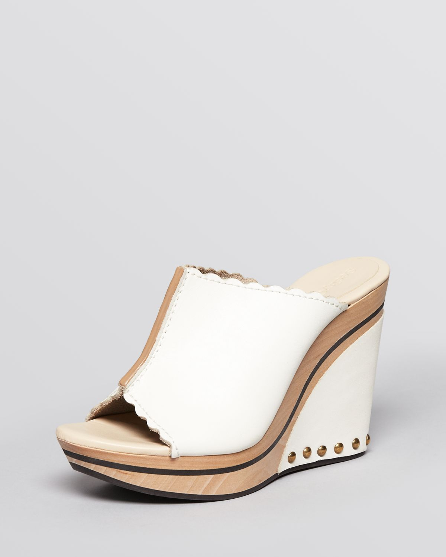 wedge clogs open toe