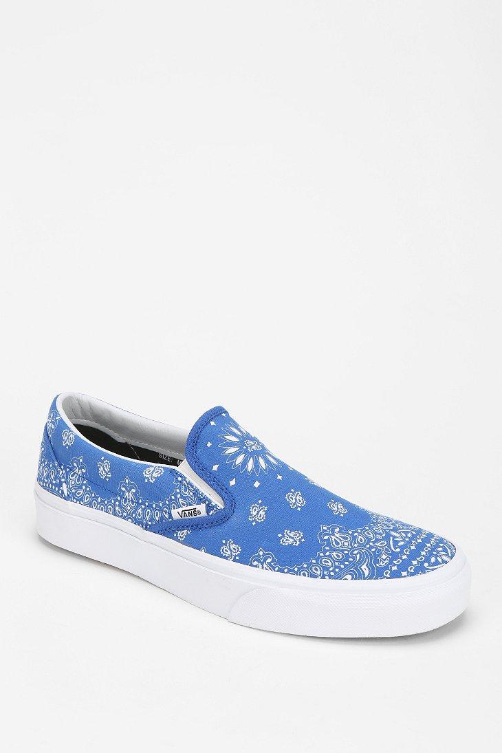 Vans Bandana Print Slipon Sneaker in
