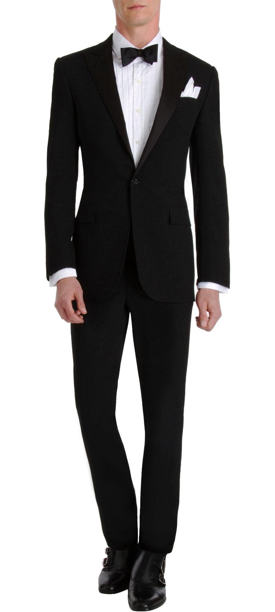 ralph lauren black label silk peaked lapel anthony tuxedo
