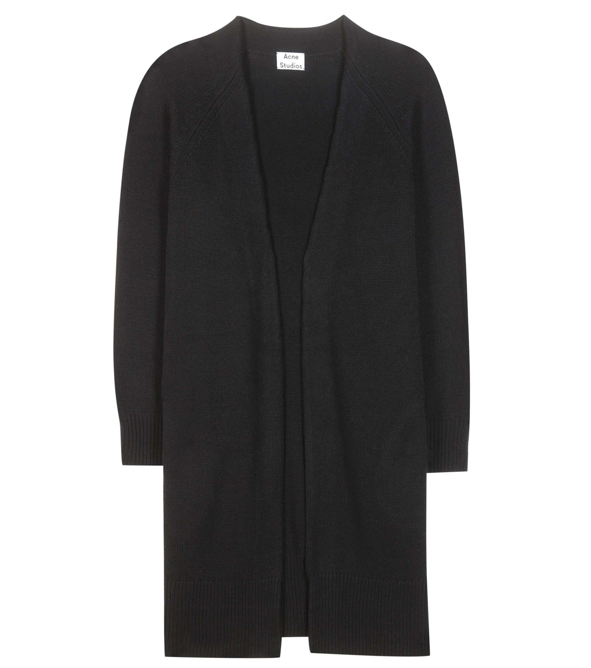 Acne studios Sonya Wool And Cashmere Open Cardigan in Black | Lyst