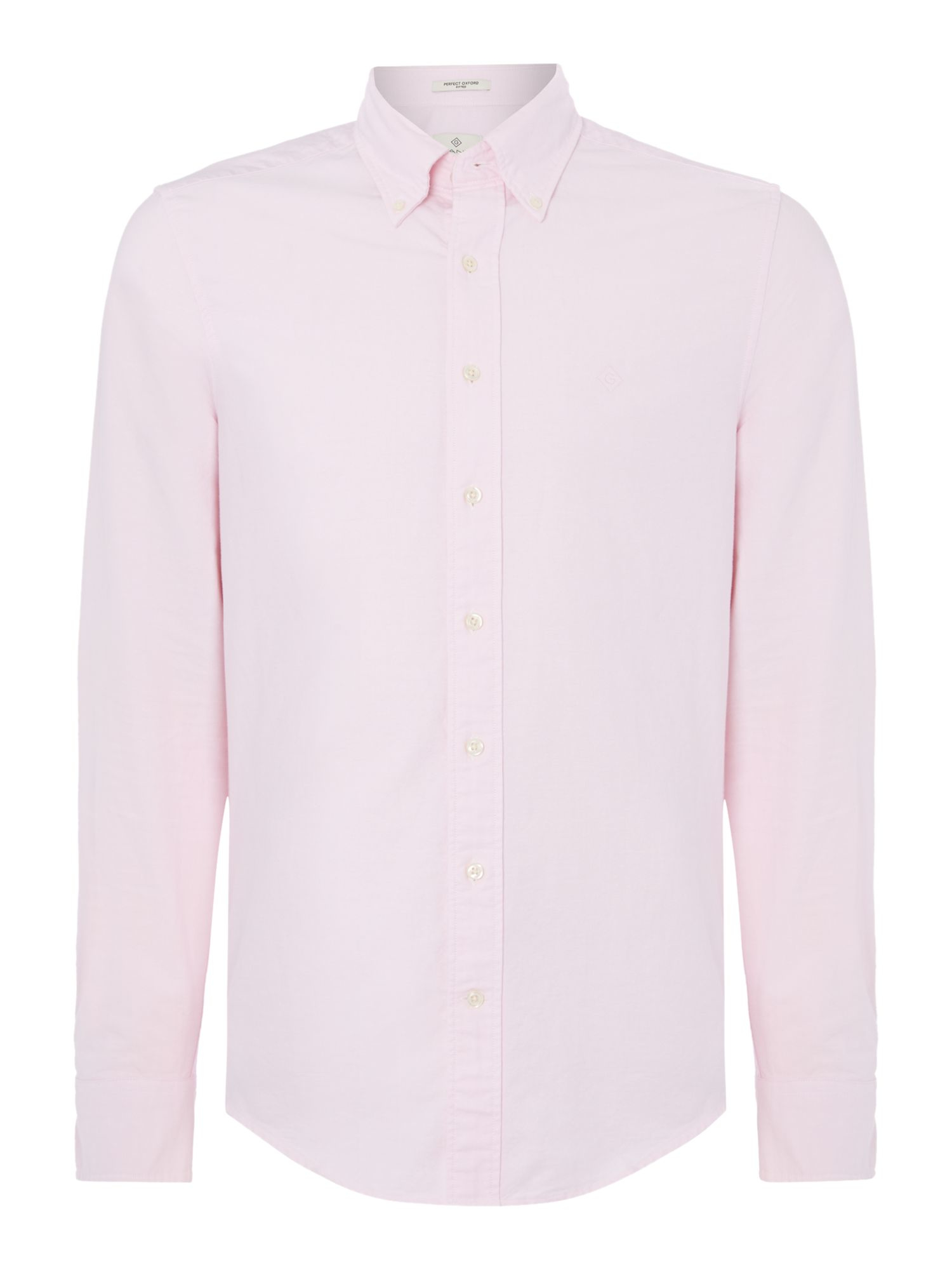 Gant diamond g fully fitted perfect oxford shirt in pink for Pink oxford shirt men