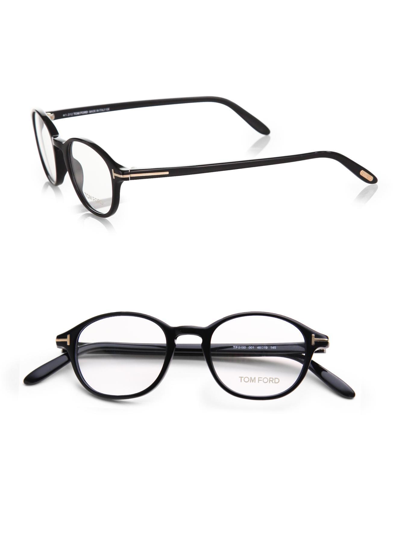 52298f0782 Tom Ford 5150 Optical Round Frames in Black for Men - Lyst