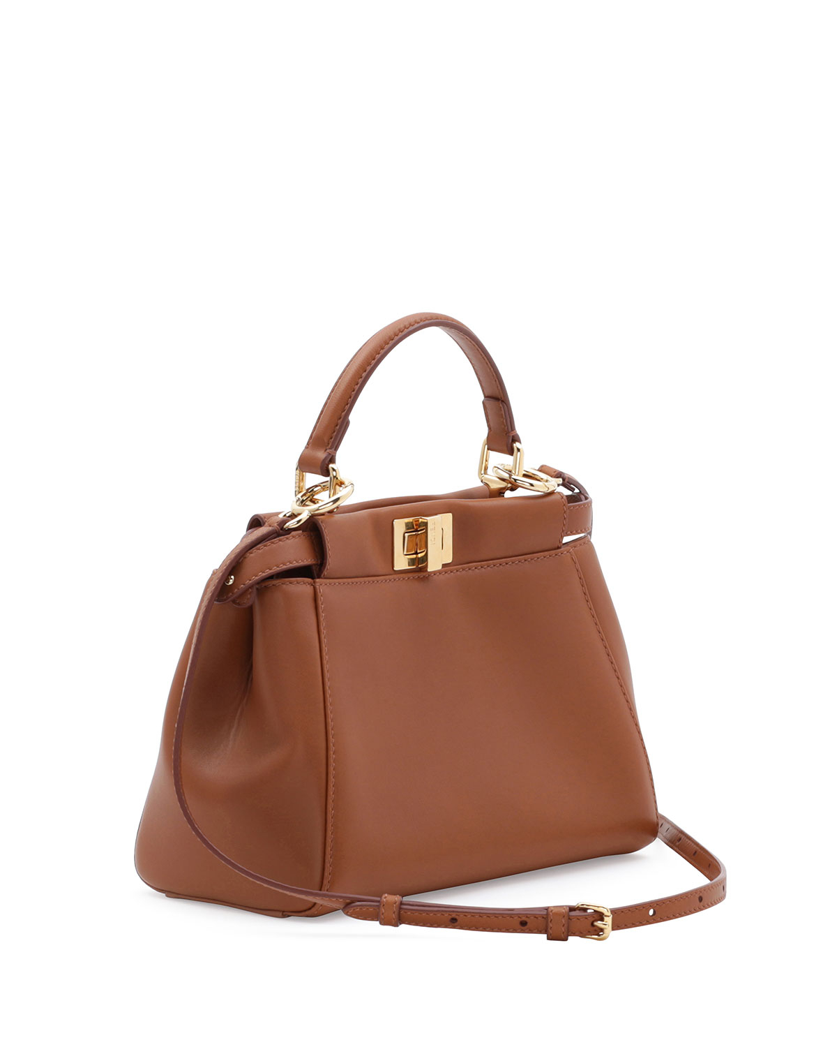 ac06027f Fendi Brown Peekaboo Mini Satchel Bag