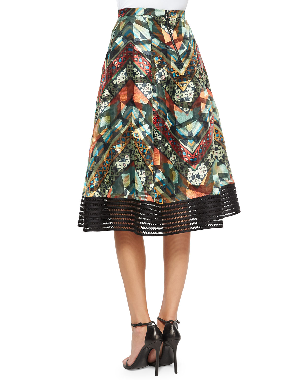 sachin babi tribal print midi skirt in black lyst