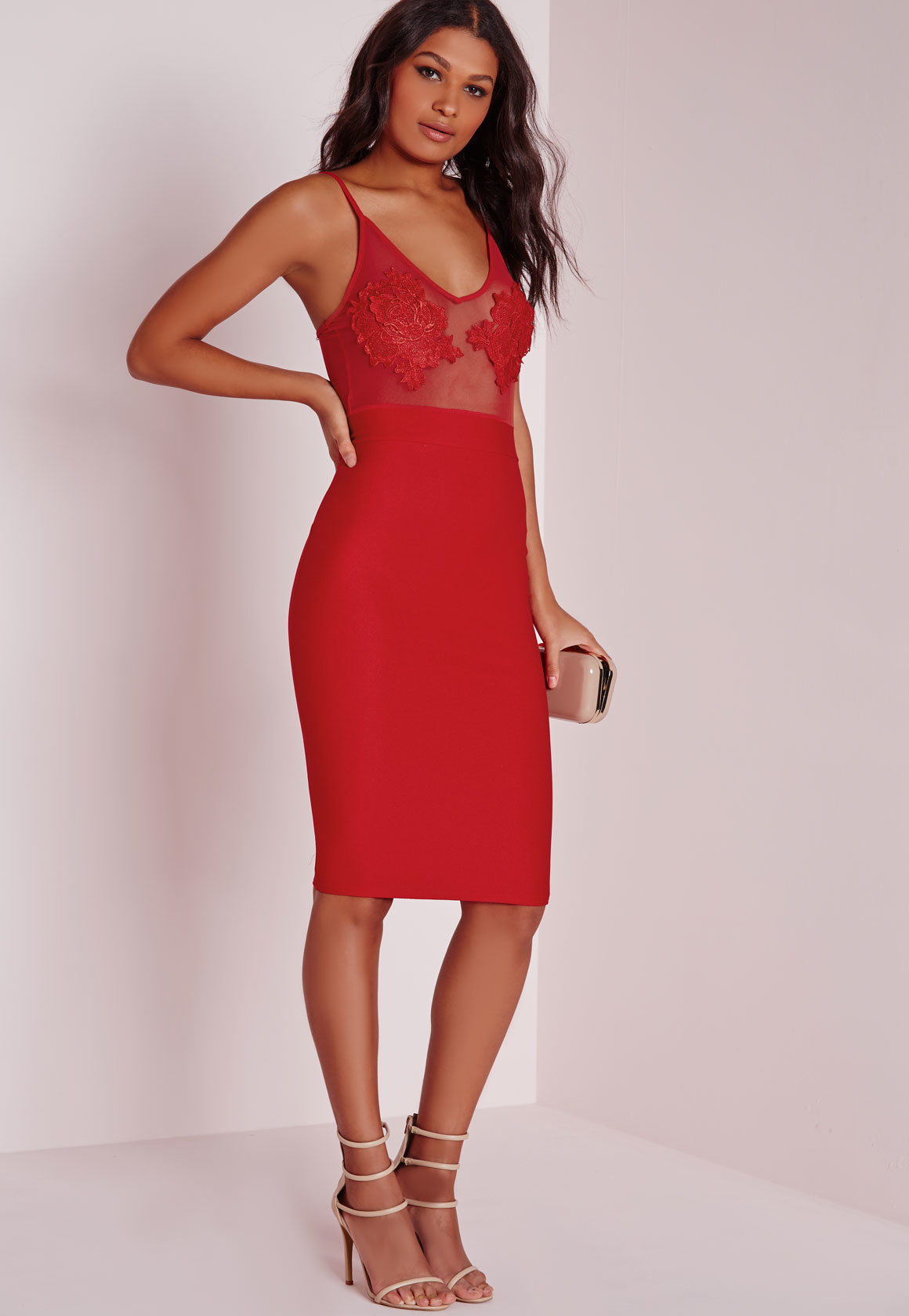 Red bodycon dress h&m