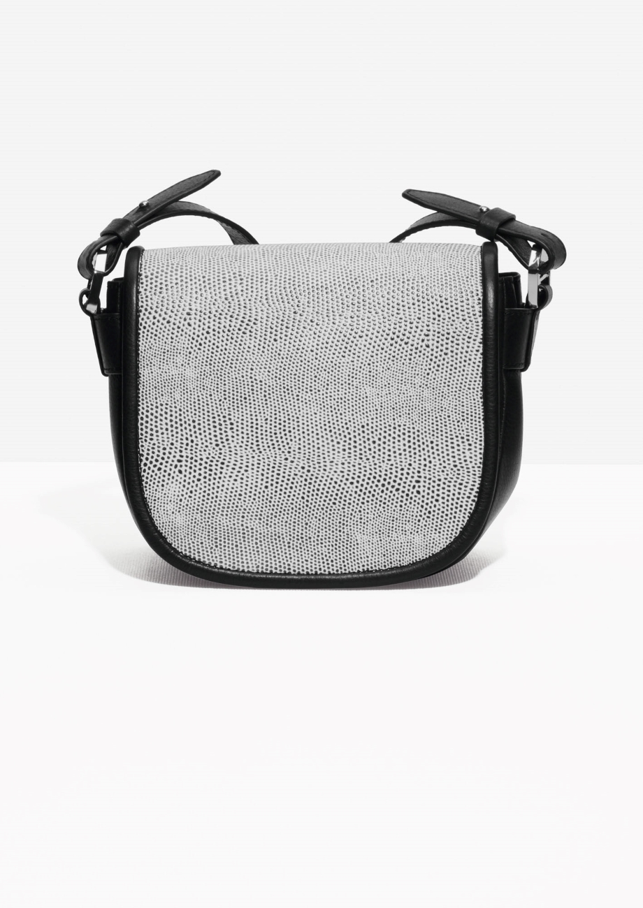 Other Stories Reptile Texture Crossbody Bag in White - Lyst 67d3bf25544be