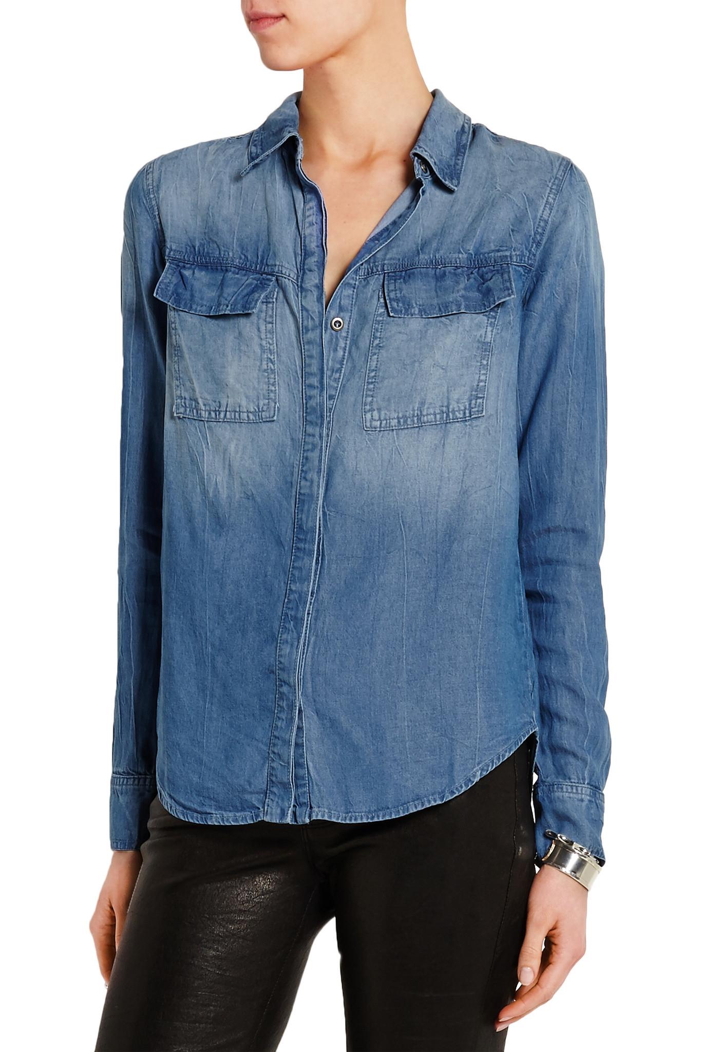 5aa153e095b Splendid Wilder Washed-chambray Shirt in Blue - Lyst
