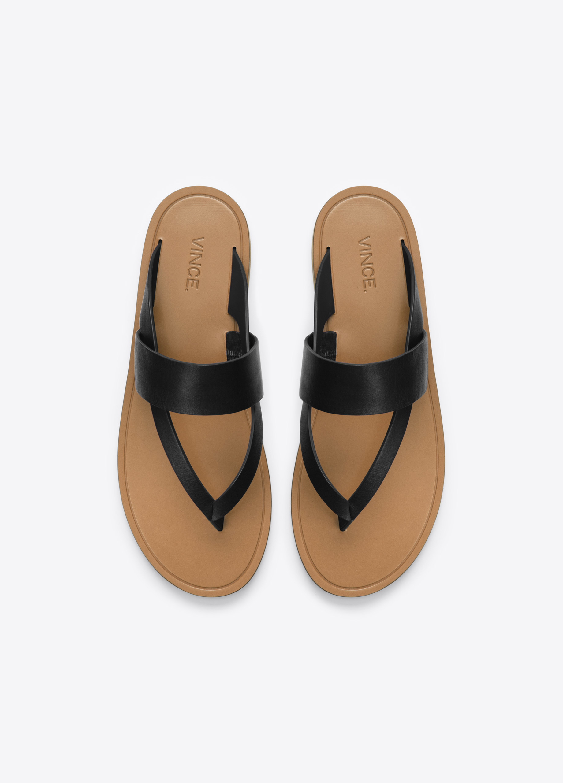 Vince Tess Leather Sandals In Black Lyst