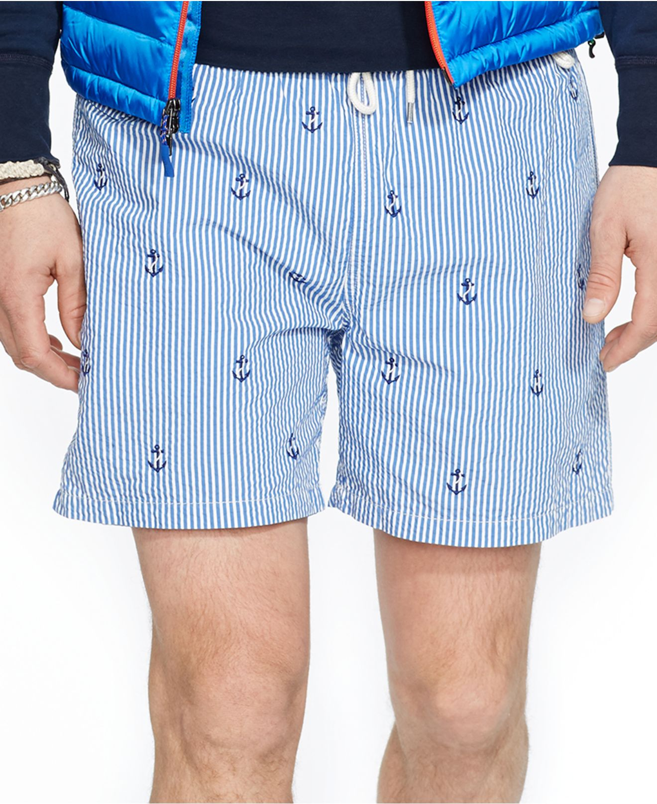 royal blue mens polo ralph lauren plaid swim shorts