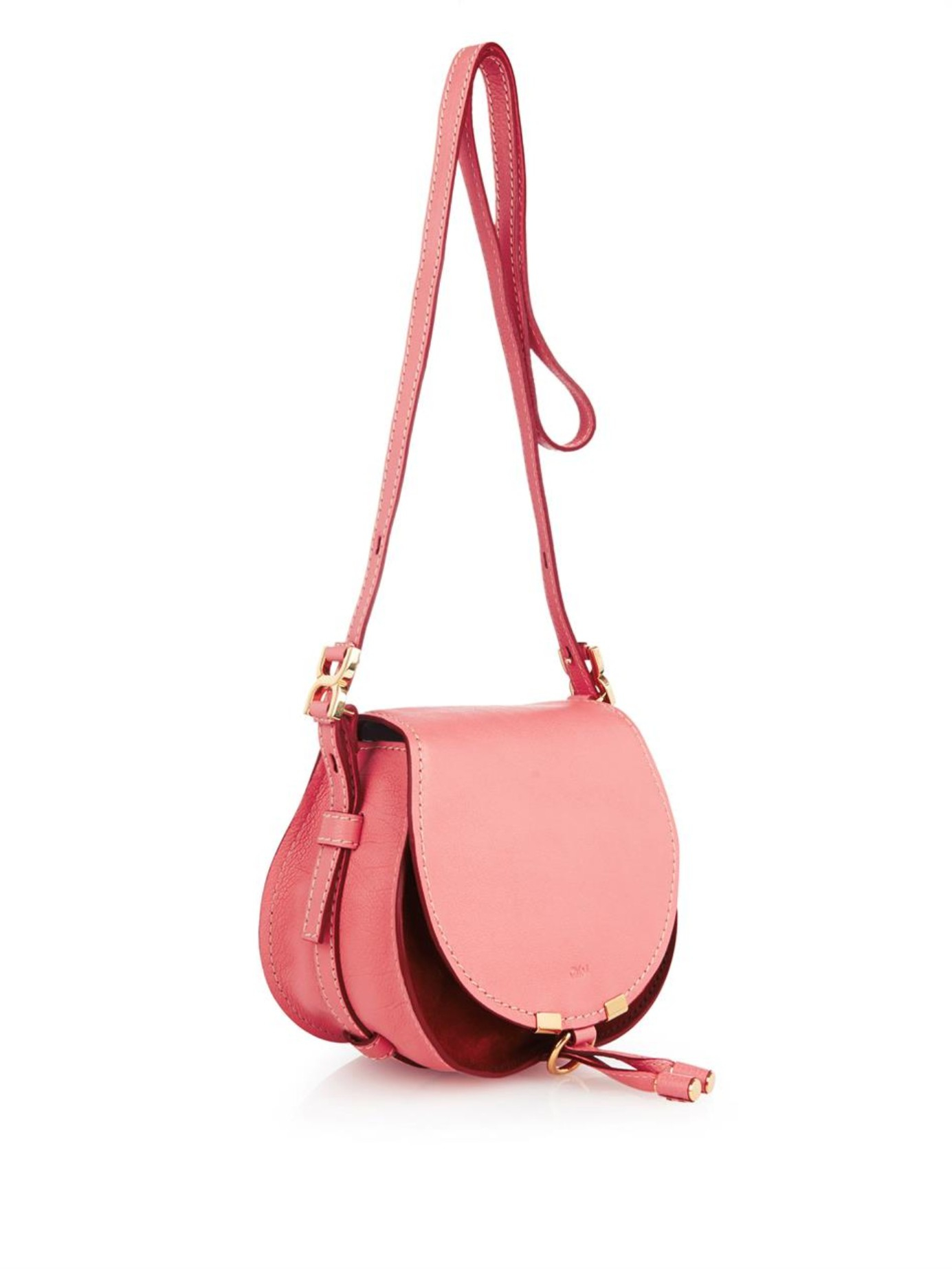 Chloé Marcie Small Leather and Suede Cross-Body Bag in Pink