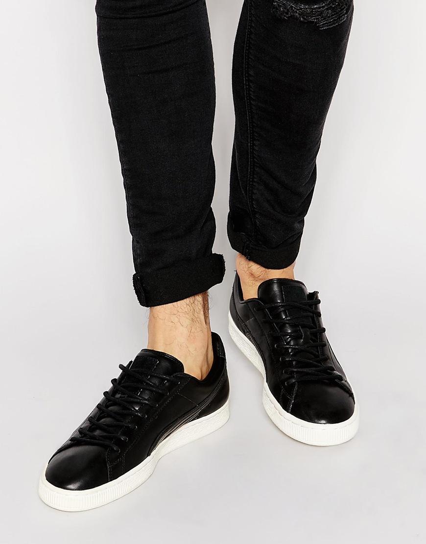 sports shoes 48d70 bb4dd PUMA Black Basket Leather Citi Trainers for men