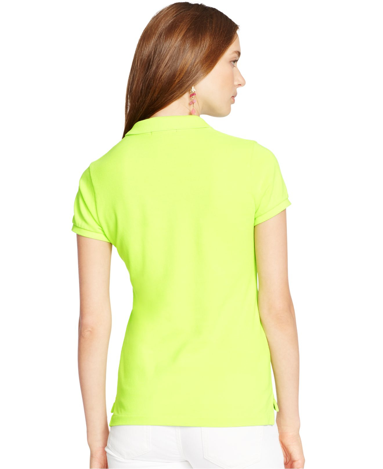 polo ralph lauren slim fit big pony polo shirt in green. Black Bedroom Furniture Sets. Home Design Ideas