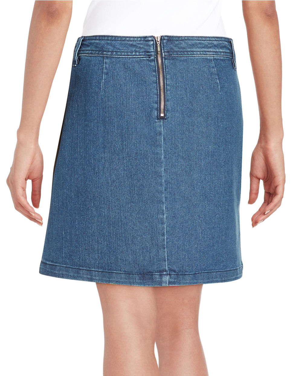 lord lace up denim skirt lyst