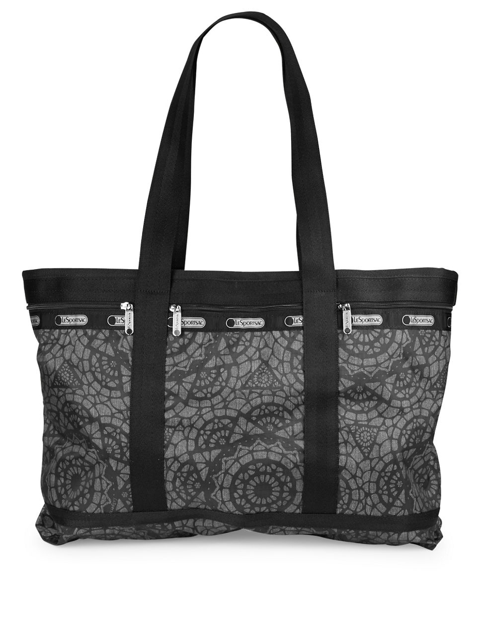 LeSportsac Large Printed Travel Tote Bag in Gray - Lyst