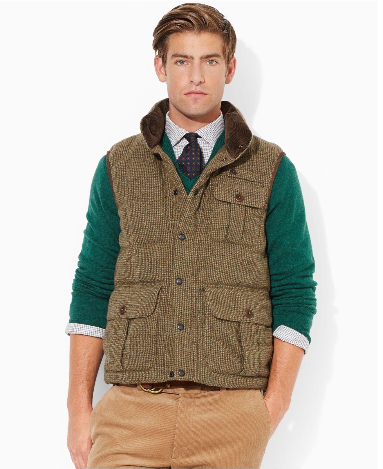 Polo Ralph Lauren Mayfield Tweed Vest in Brown for Men