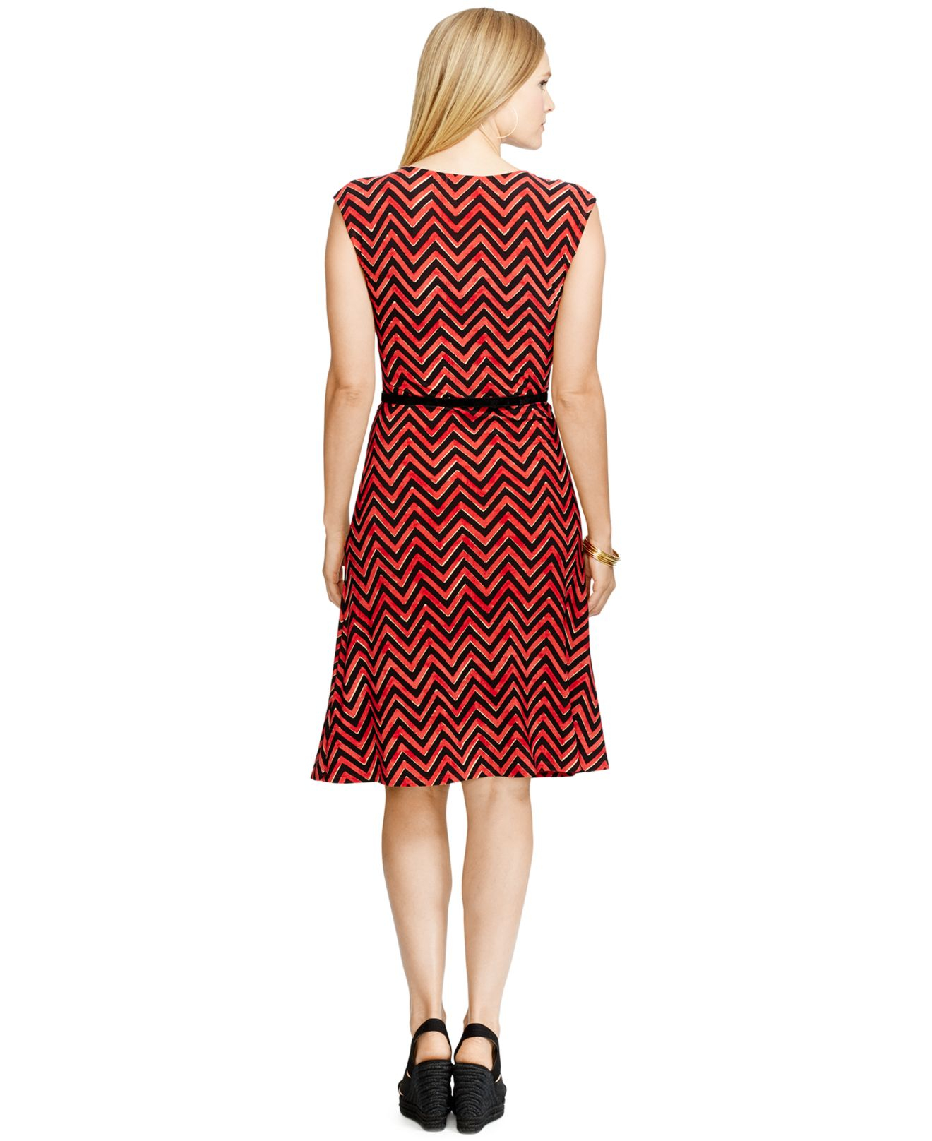 by ralph plus size belted chevron dress lyst
