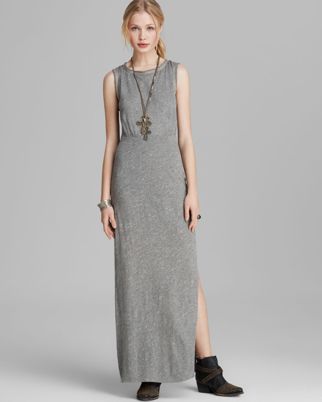 Lyst - Free People Maxi Dress Sabrina in Gray