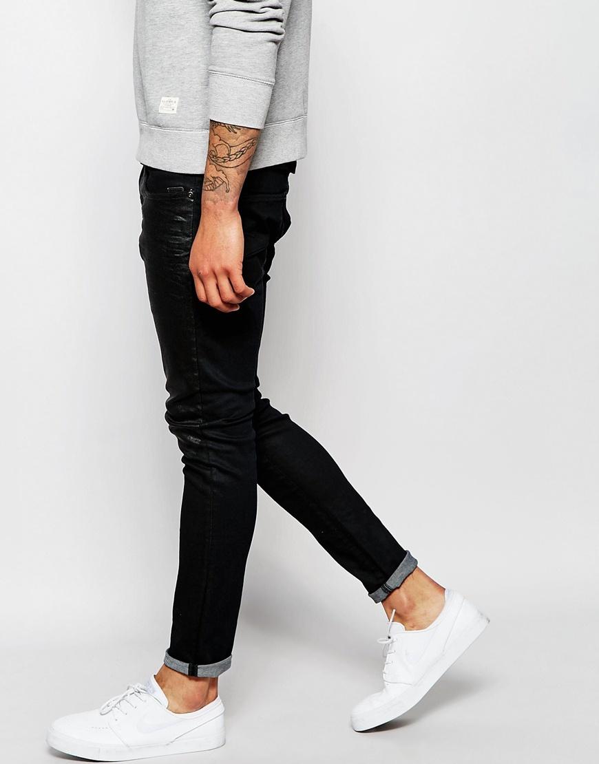 51a47521 G-Star RAW Jeans Defend Super Slim Skinny Stretch Fit Black 3d Dark ...