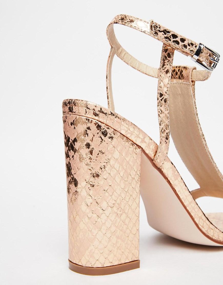 5f8c3c0dd1f Lyst - ASOS Holidays Embellished Heeled Sandals in Natural