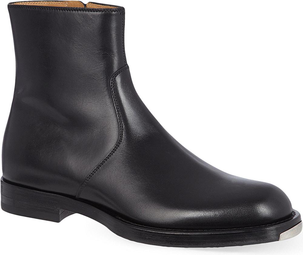 4a160f827 Gucci Gari Metal Toe Zip Boots in Black for Men - Lyst