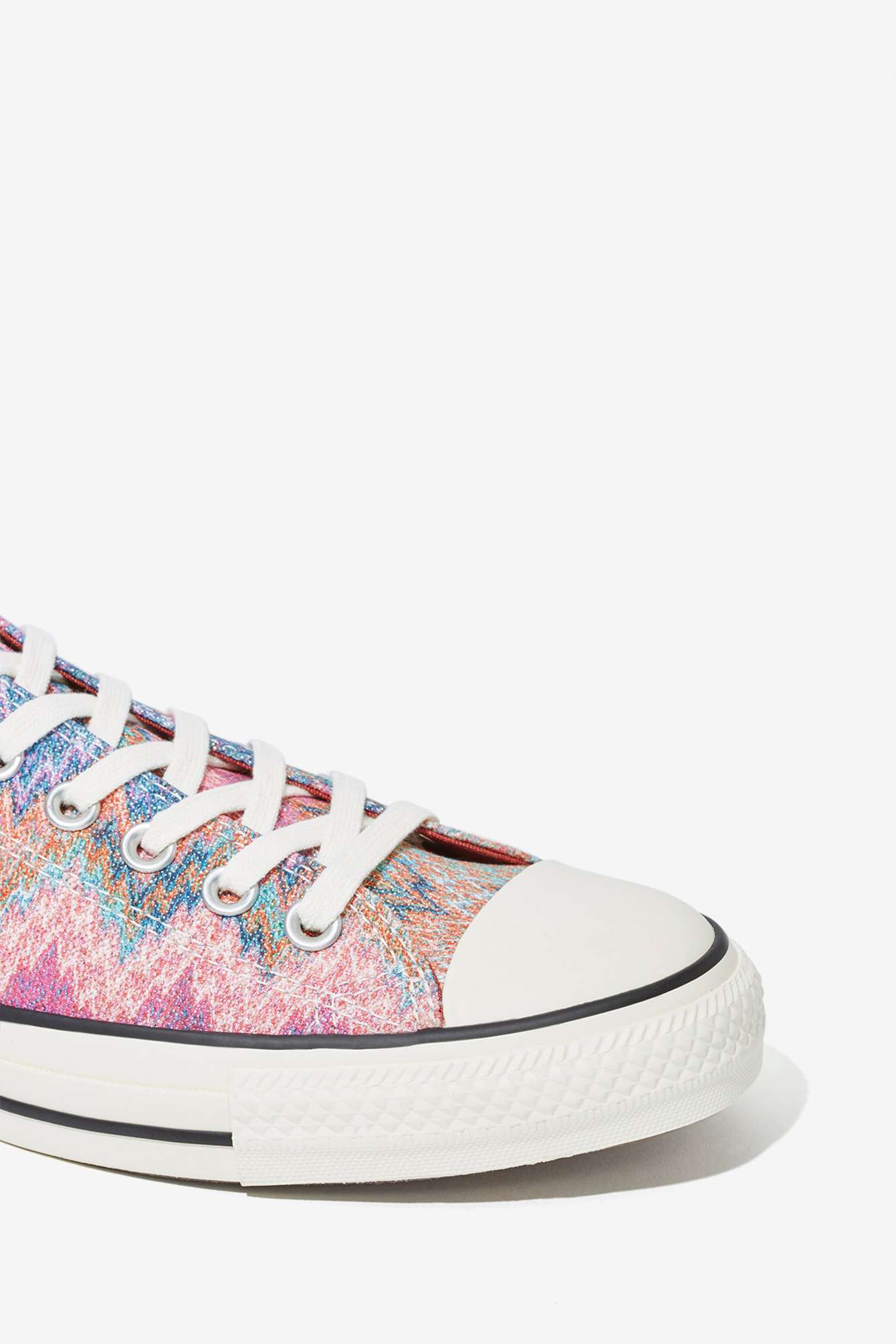 3f951557e2e6c0 Lyst - Nasty Gal Missoni X Converse All Star Low-Top Sneaker in Pink