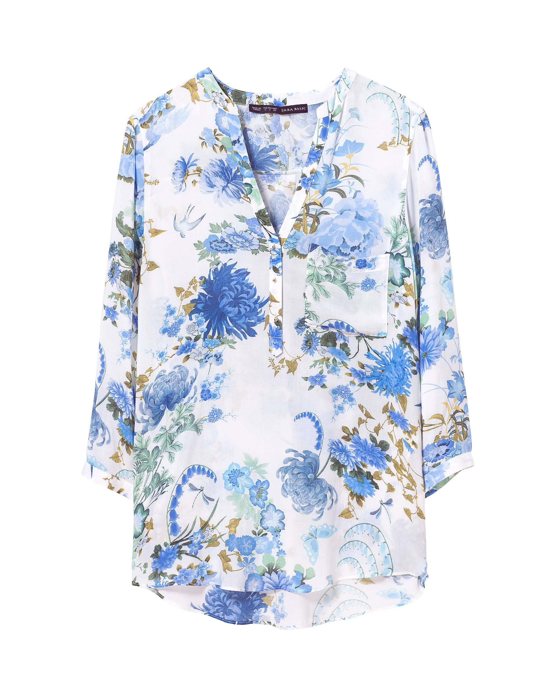 Zara Light Blue Floral Printed Linen Blouse Top Size M, L. AU $ From United Kingdom. AU $ postage. ZARA BNWT SHIRT BLOUSE TOP SIZE LARGE CHECK LADIES GIRLS RRP £ A SUPER LADIES BNWT ZARA CHECK BLOUSE SHIRT TOP WITH LAPEL COLLAR AND LONG SLEEVES. SIZE LARGE SO WILL FIT SIZE