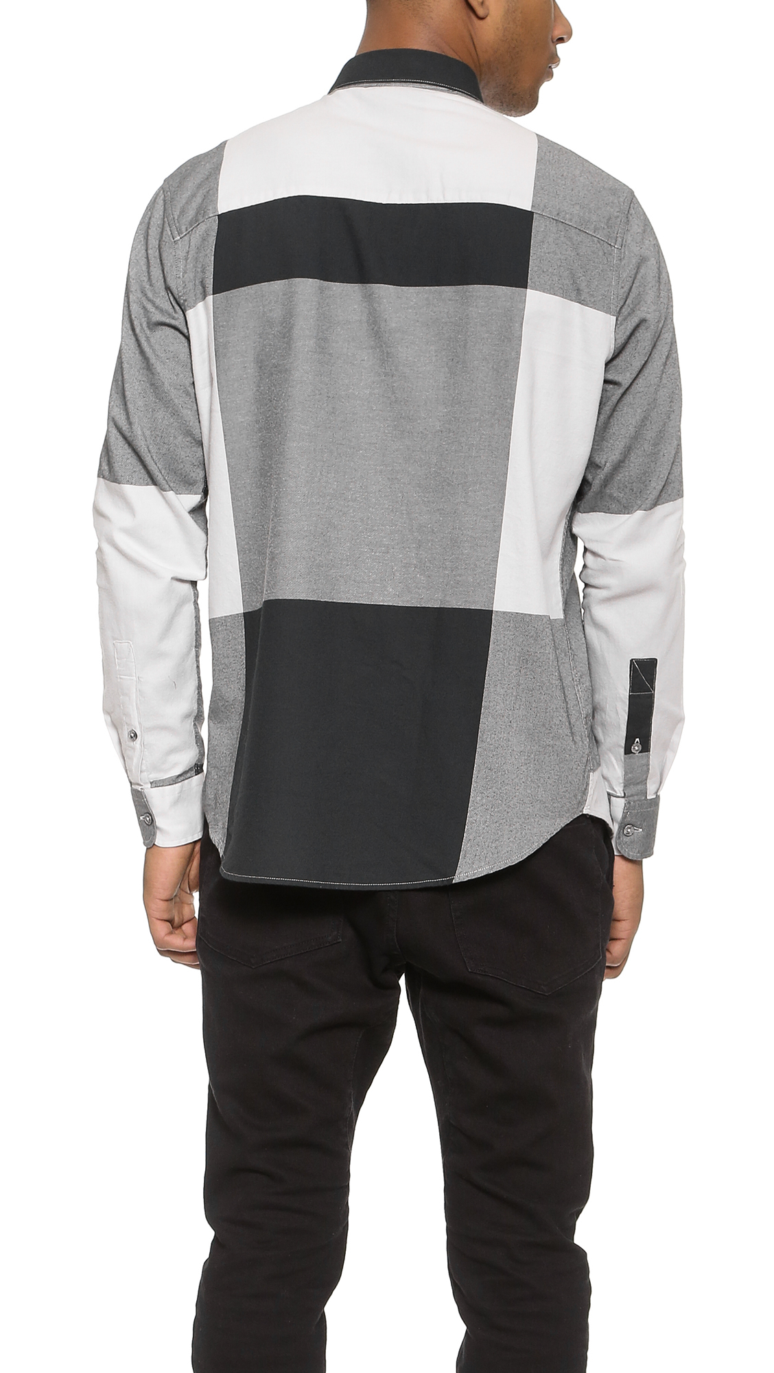 Cheap Monday Neo Flannel Shirt In Black For Men Indigo