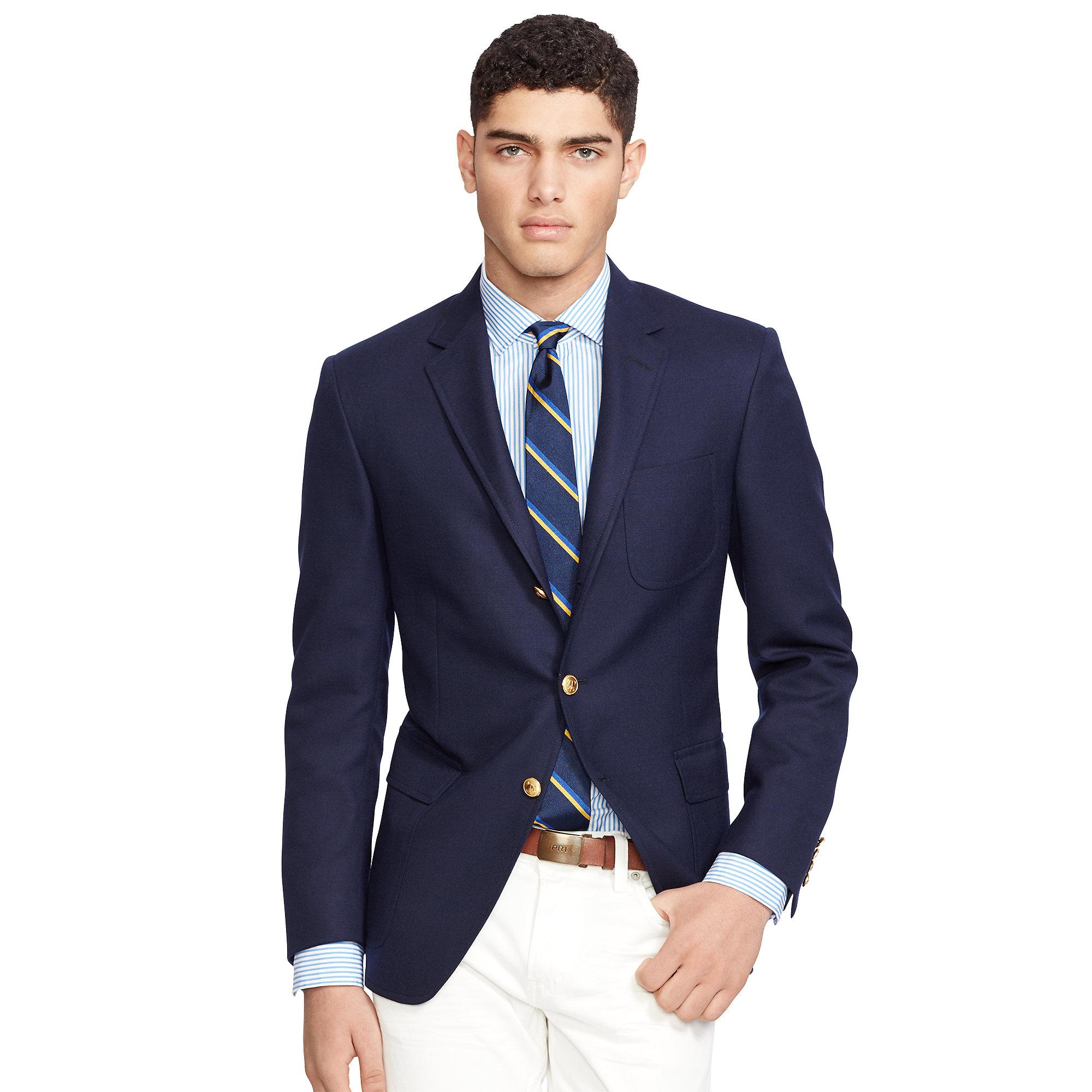 Polo Ralph Lauren Blue Polo Wool Hopsack Sport Coat for men