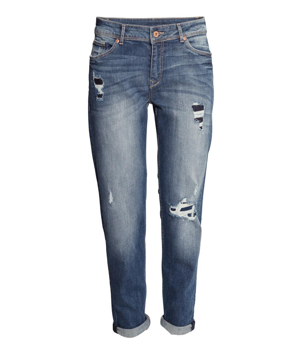 H&M Jeans Boyfriend Fit in Dark Blue (Blue)