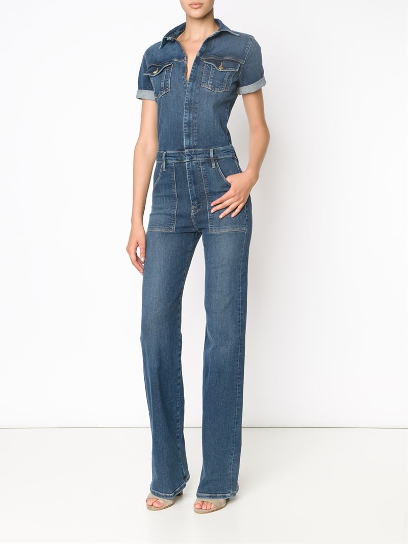 Blue jean jumpsuits for women pictures