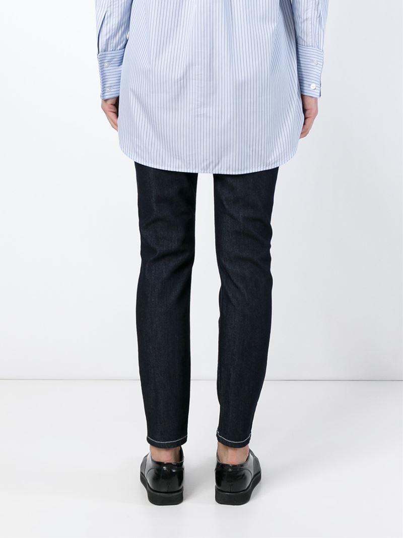 victoria beckham skinny jeans in blue lyst. Black Bedroom Furniture Sets. Home Design Ideas