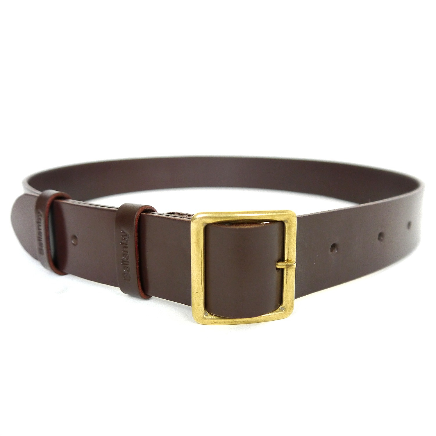 ballanby handmade leather belt in brown for lyst