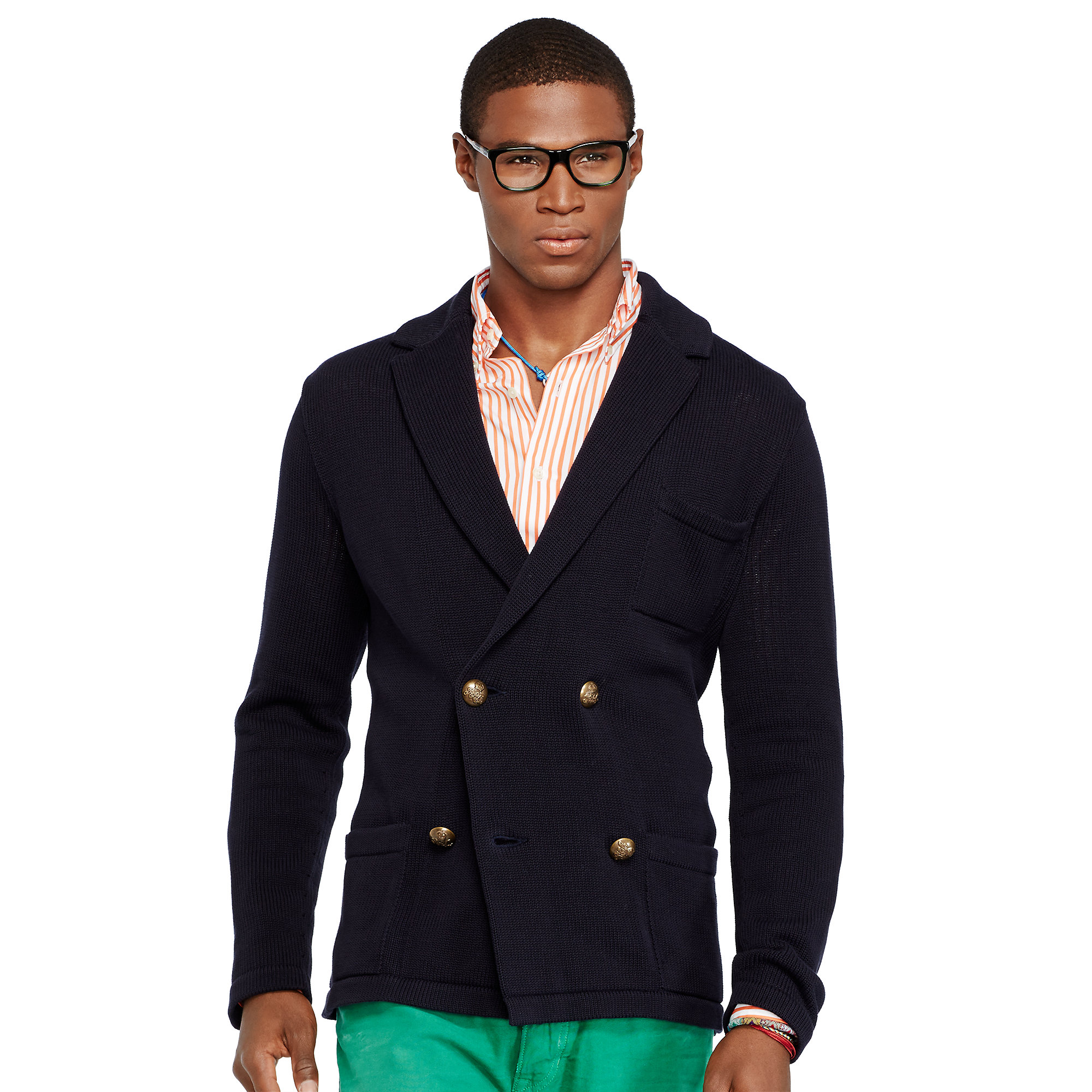Polo ralph lauren Pima Cotton Sweater Blazer in Blue for Men | Lyst