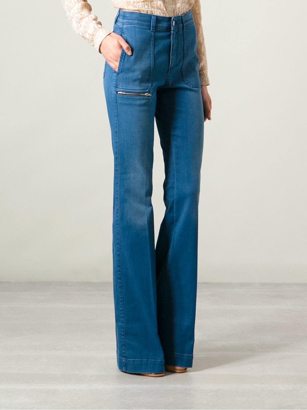 Stella mccartney Bootcut Jeans in Blue | Lyst