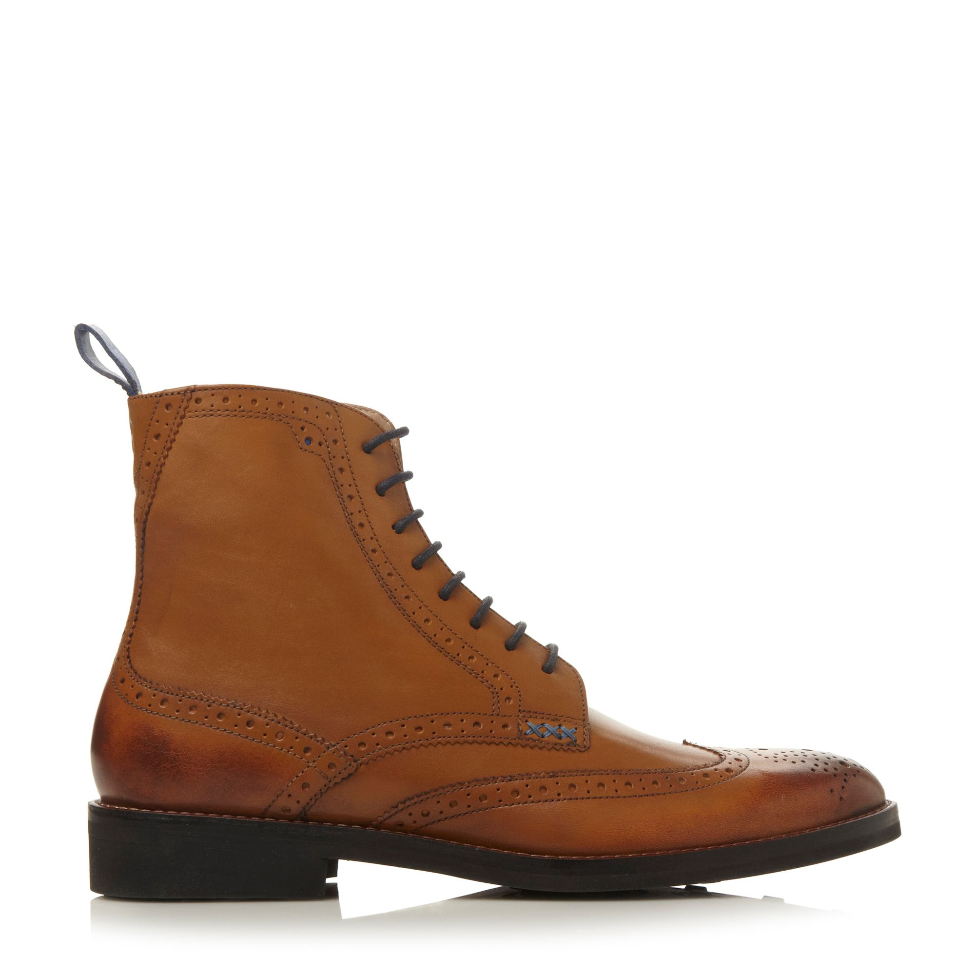 oliver sweeney airton lace up brogue boots in brown for