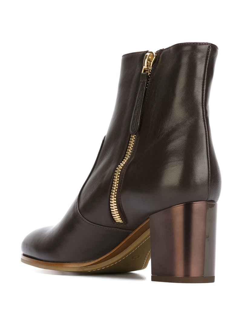 lyst lautre chose chunkyheeled ankle boots in brown