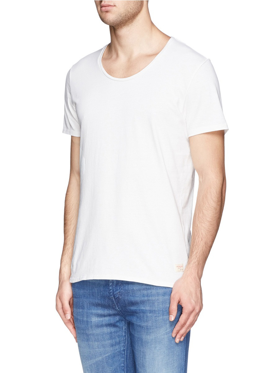 scotch soda home alone t shirt in white for men lyst. Black Bedroom Furniture Sets. Home Design Ideas