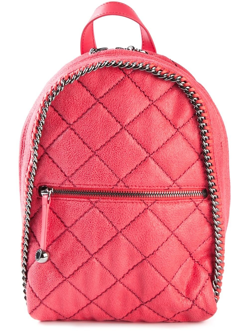 Stella McCartney 'Falabella' Quilted Backpack in Pink & Purple (Pink)