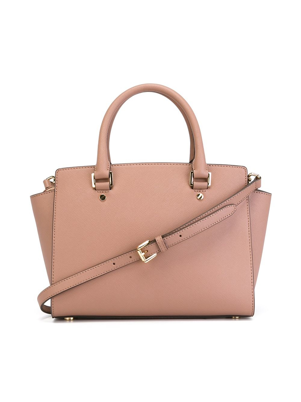 lyst michael michael kors large 39 selma 39 tote in pink. Black Bedroom Furniture Sets. Home Design Ideas