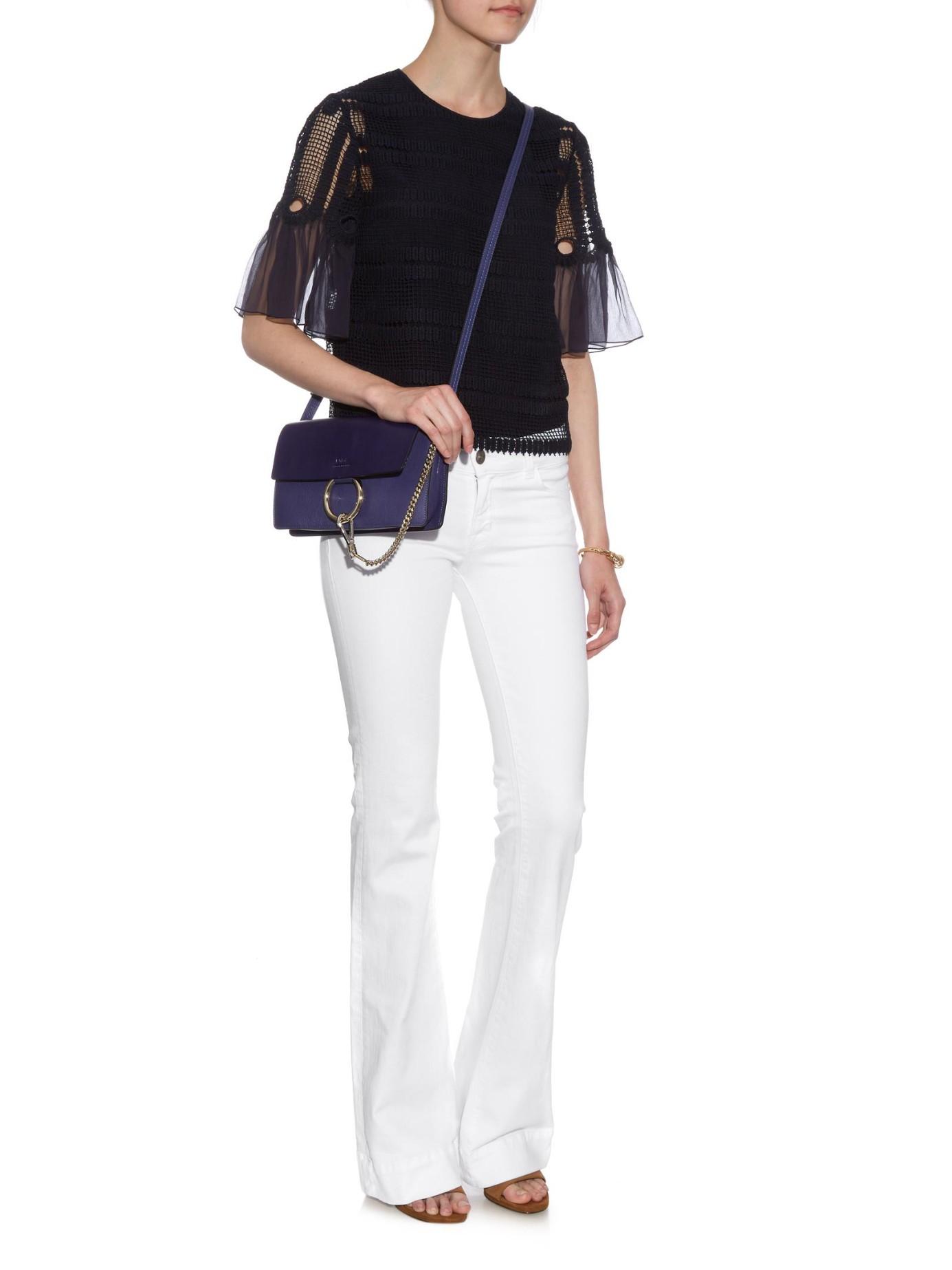 Chlo�� Faye Cross-Body Bag in Blue | Lyst