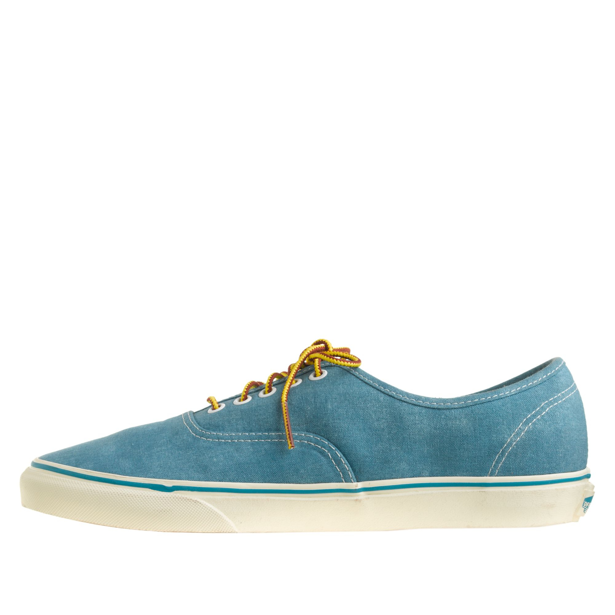 36ed8a7156a961 Lyst - J.Crew Washed Canvas Authentic Sneakers in Blue for Men