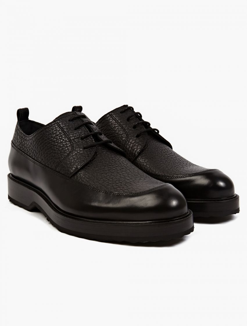 pierre hardy grained panel leather shoes in black for men lyst. Black Bedroom Furniture Sets. Home Design Ideas
