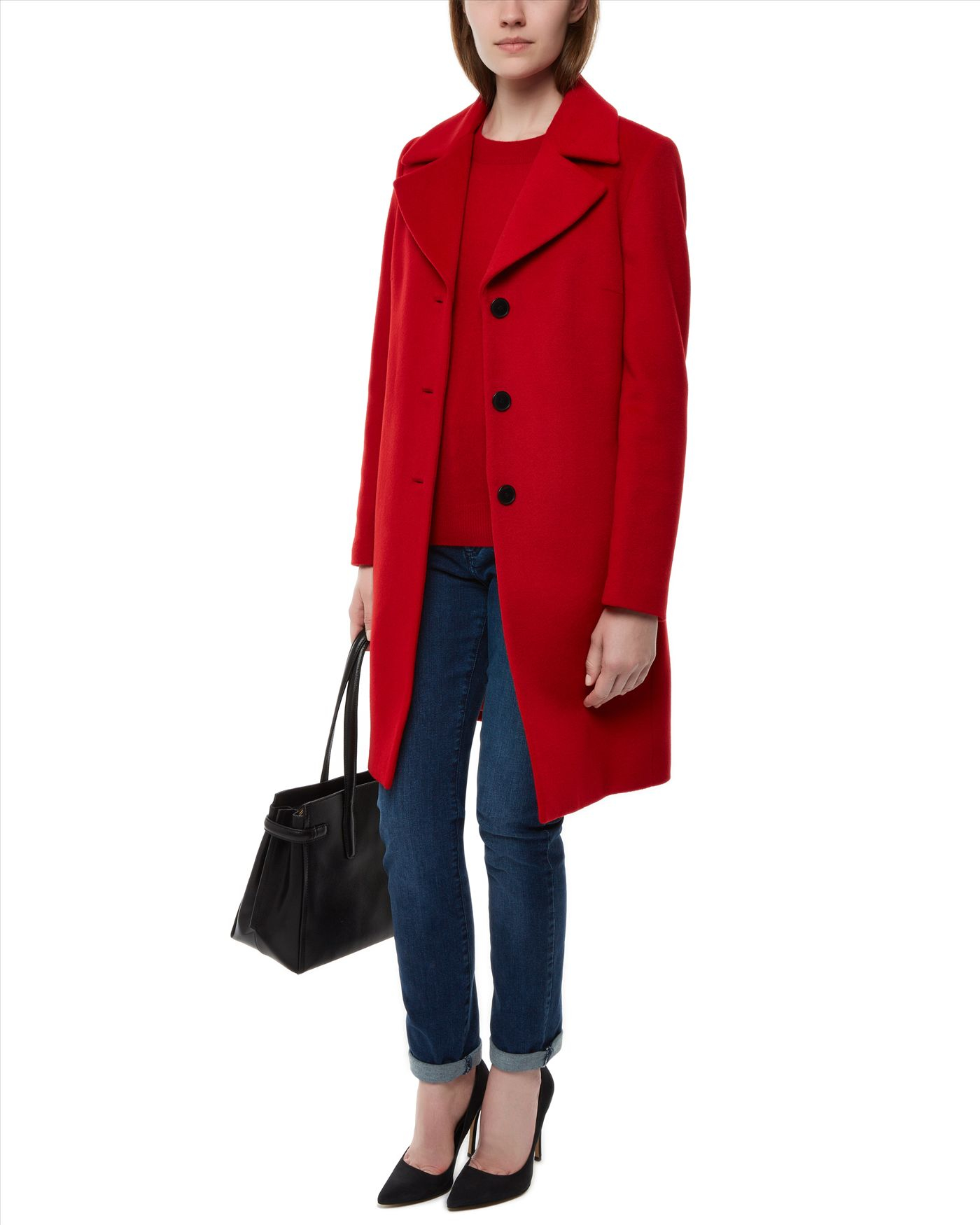 Lyst Jaeger Wool Three Button Coat In Red