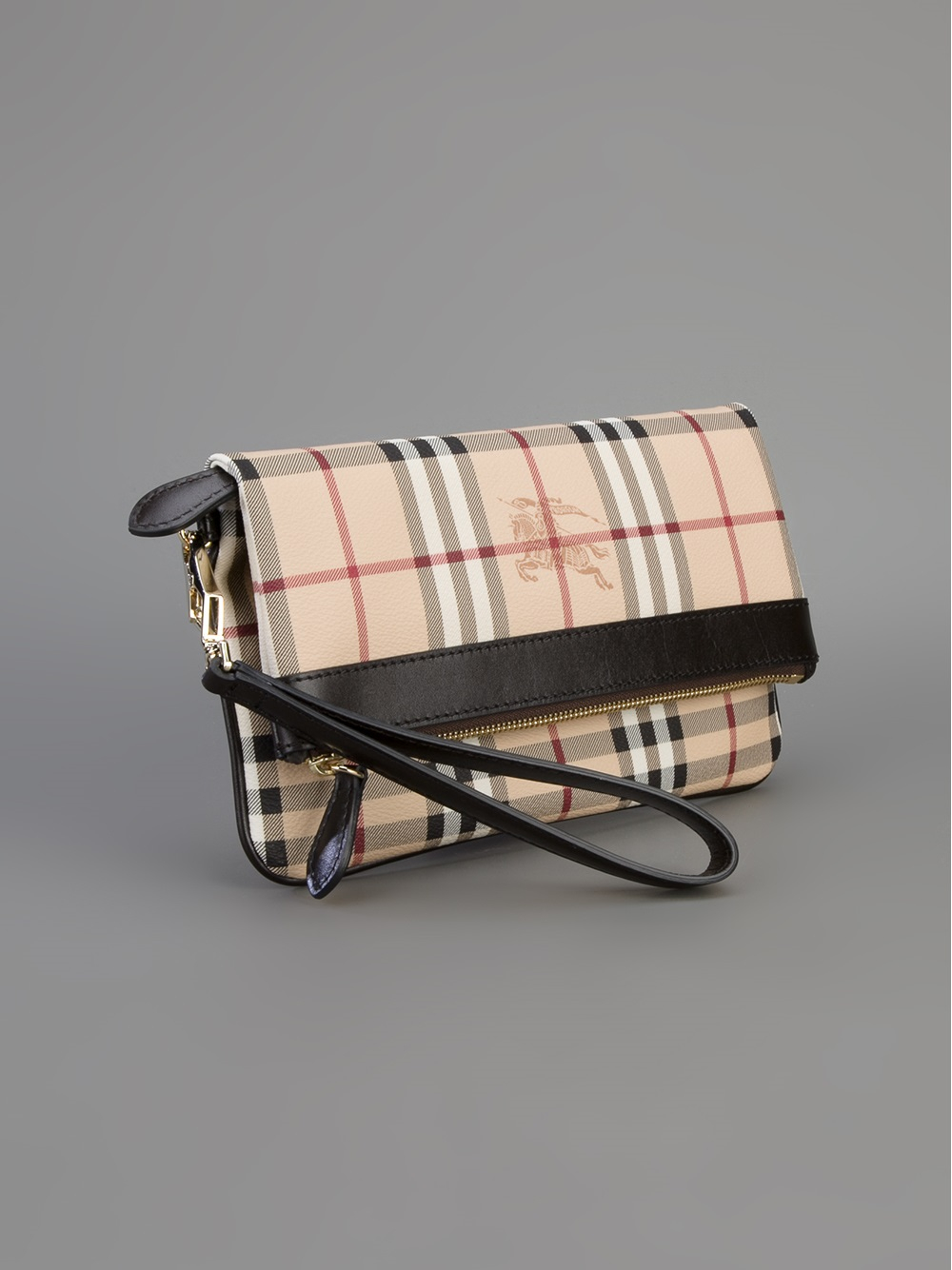 3b175a94f094 Lyst - Burberry Adeline Coated Clutch in Natural