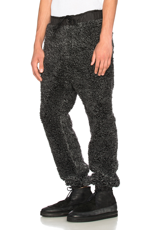 Sacai Men S Faux Fur Pants In Gray Lyst