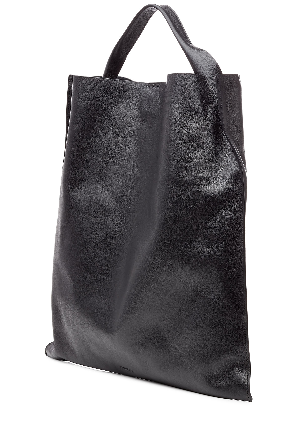 deb69490a0e96 Lyst - Jil Sander Xiao Leather Tote in Black