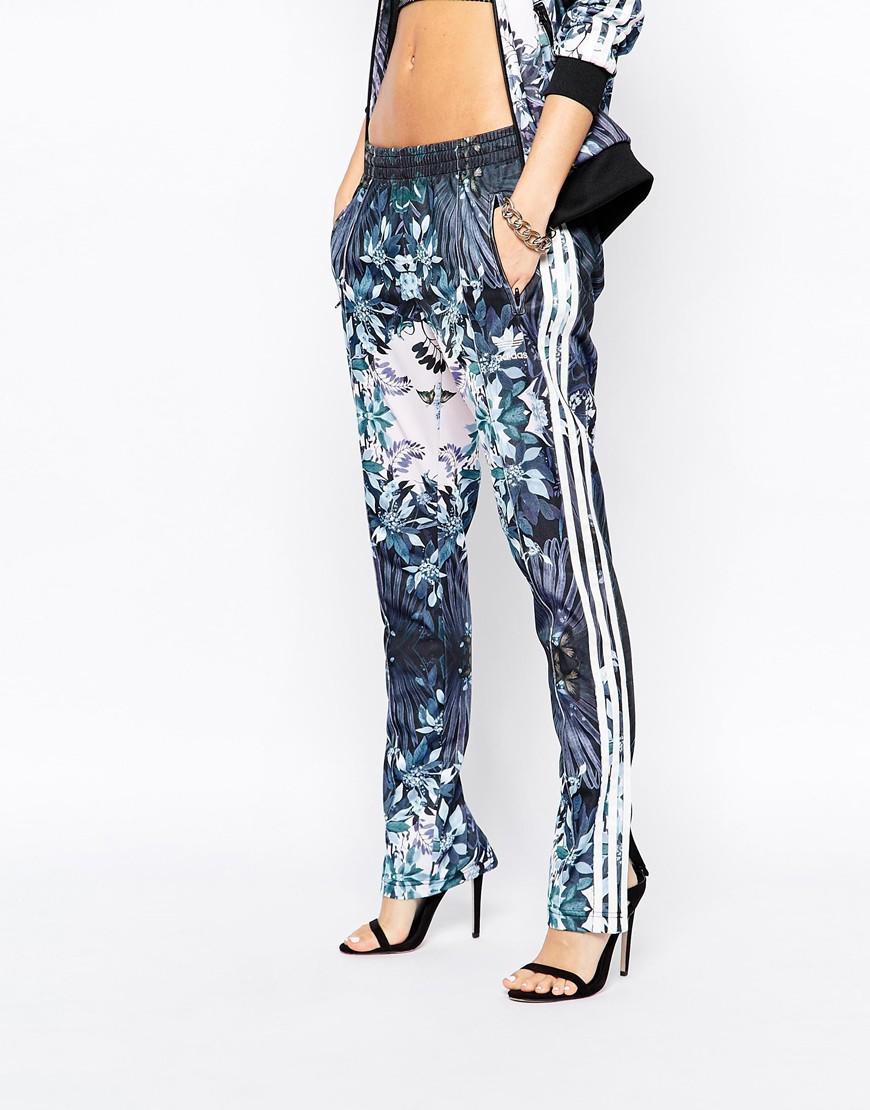 Adidas Originals Florera Ice Floral Slim Track Pants Lyst