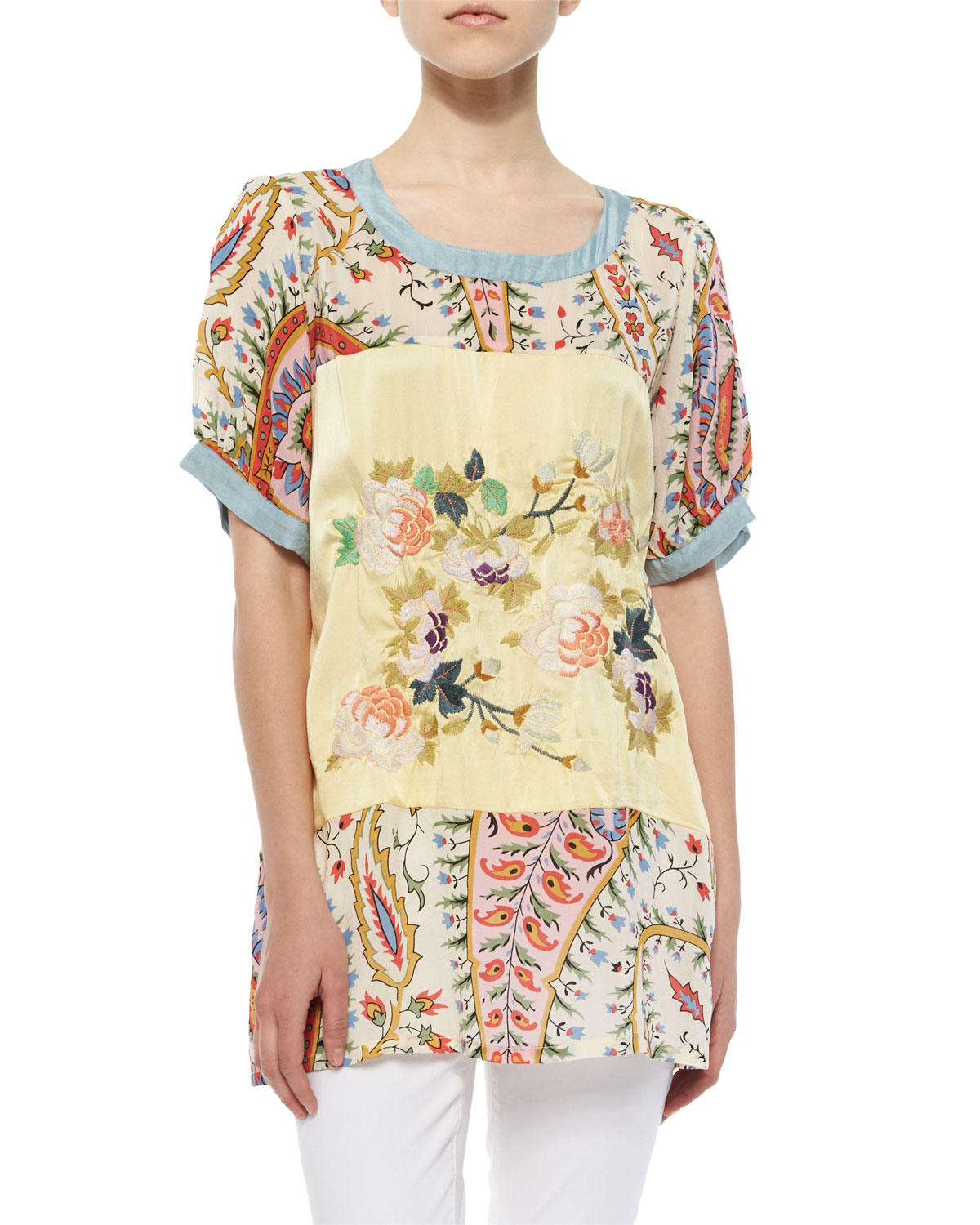 Lyst Johnny Was Mistic Paneled Printed Tunic